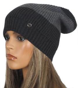 06fa861514a NEW GUCCI CHARCOAL GRAY WEB WOOL INTERLOCKING LOGO BEANIE HAT ONE ...