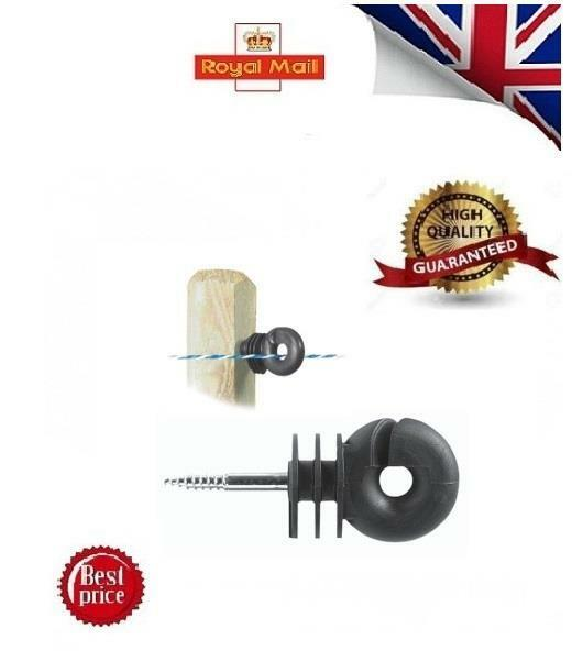 STRONG 1000 x Ring Insulator Screw in Compact- Fence Electric Fencing LACME 01UK