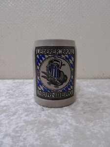 BIRRA BOCCALE Lederer Bräu Norimberga-VINTAGE 1937-Insegne Pubblicità - 0,5 L