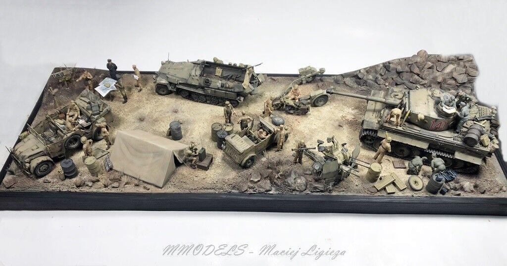 Cats diorama deutsche afrika korps - rest - tunis 1 - gebaut und bemalt
