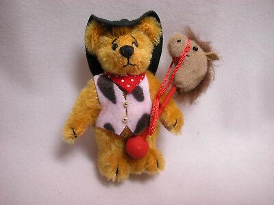"World Of Miniature Bears Dollhouse Miniature 2.75/"" Howdy Bear #950"