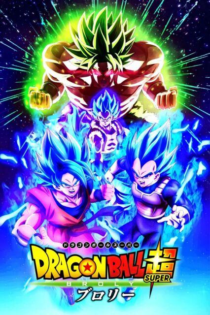 NEW 11x17 13x19 Dragon Ball Super Poster SSJ God Blue Goku Vegeta DBZ