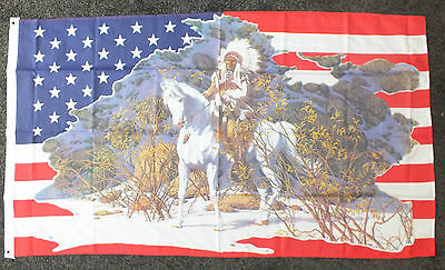 Chief Native American Flag Red Indians Line/Barn Dance Cowboys Country Music bn