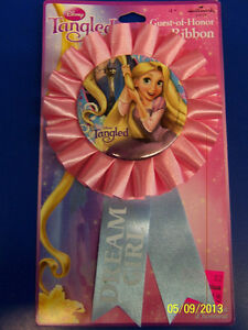 Tangled Disney Princess Rapunzel Kids Birthday Party Favor Guest of Honor Ribbon