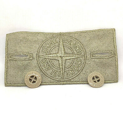 4 Stone Island Badges 2 Standard 2 Black Ghost with 8 buttons