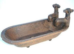 Antique-Style-Faucet-Bath-Tub-Soap-Dish-Primitive-Farmhouse-Rustic-Country-Decor