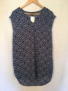 Ladies-Blue-Tunic-Size-12-H-amp-M-sleeveless-lt-G115
