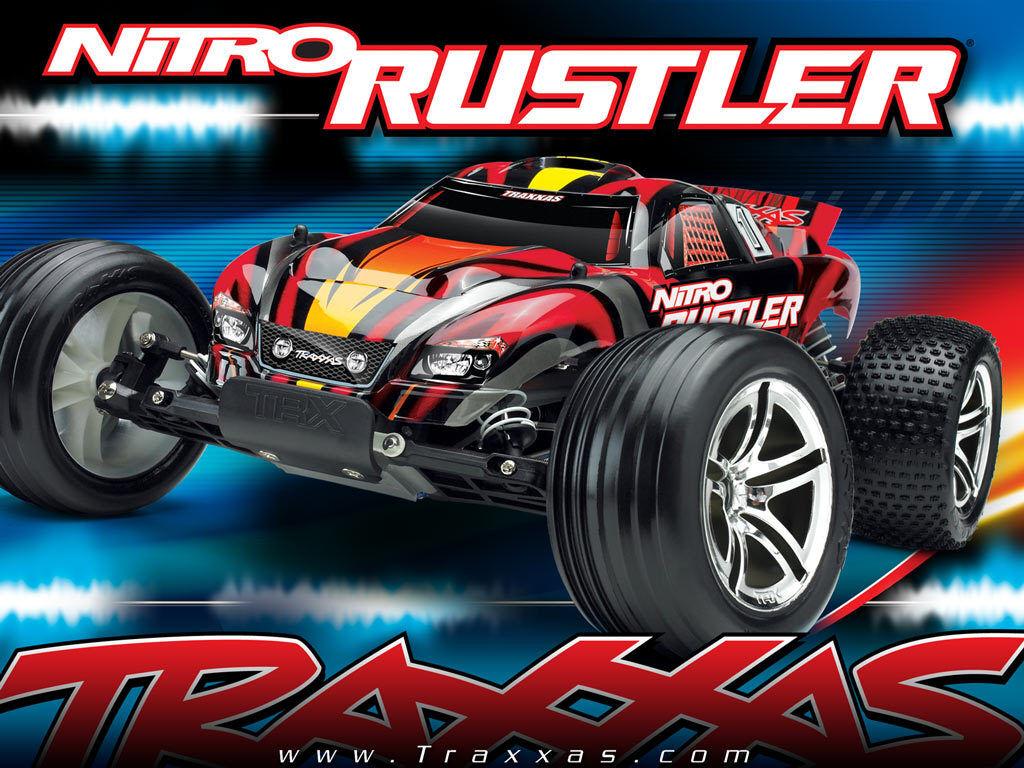Traxxas Nitro Rustler 2.4GHz camión con TSM TRX 2.5 Motor Batt cambio TRA440963