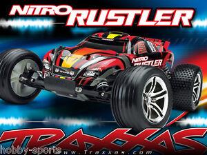 Traxxas-Nitro-Rustler-2-4GHz-Truck-W-TSM-TRX-2-5-Engine-Batt-Chg-TRA440963