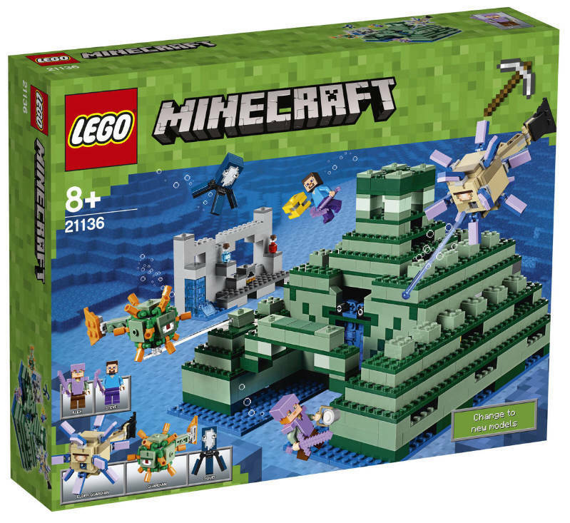 Lego ® Minecraft ® 21136 el ozeanmonument nuevo embalaje original Steve alex calamar centinela