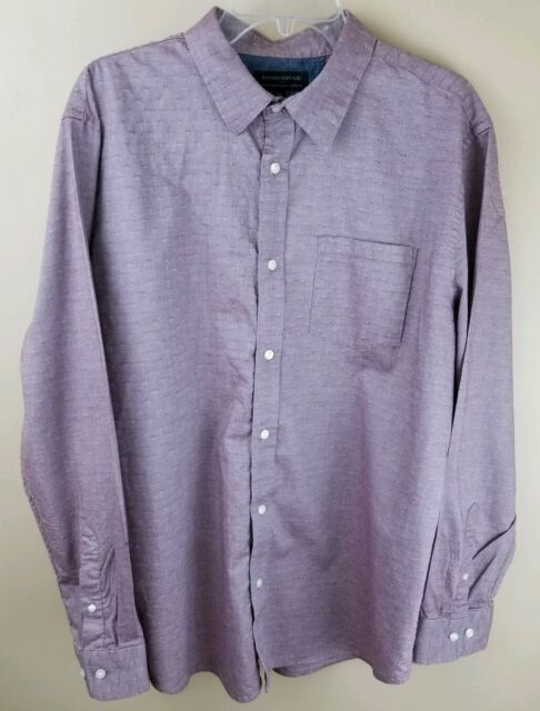 BANANA REPUBLIC Mens Stretch Soft Long Sleeve Casual Dress Shirt Size XL
