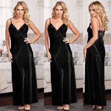 741765ffae item 2 Ladies Womens Satin Long Nightdress Silk Lace Lingerie Nightgown  Sleepwear US -Ladies Womens Satin Long Nightdress Silk Lace Lingerie  Nightgown ...