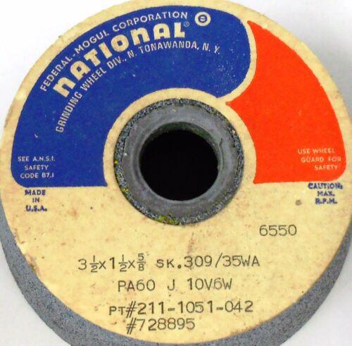 "6550 RPM NATIONAL GRINDING WHEEL 3 1//2/"" X 1 1//2/"" X 5//8/"" PART # 211-1051-042"
