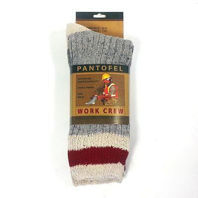 3 Pack: New PANTOFEL Men's Wool Blend Breathability Outdoor Work Crew Socks