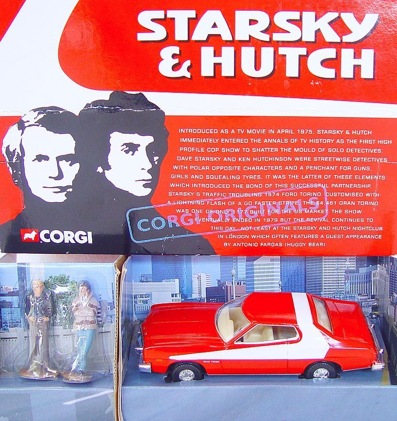 Corgi Toys 1:36  STARSKY & HUTCH  FORD TORINO TV Movie Model Car 57402 MIB`99