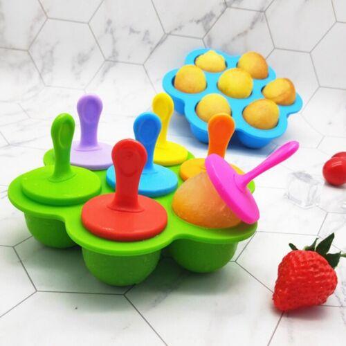 Neu Mini Silikon Eisform Eis am Stiel Lolly Maker Einfache hausgemachte DIY Eis