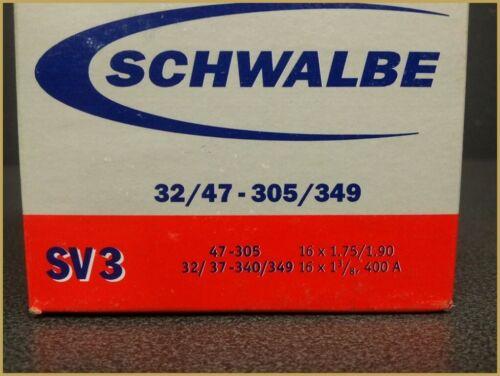 "16/"" Inner tube schwalbe sv3//400a"