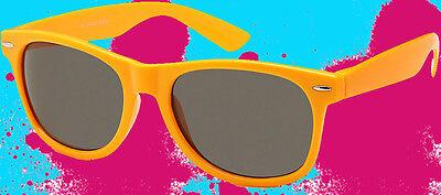 Caritatevole A522 ✪ Occhiali Da Sole 80er Anni New Kids Wave Shoez Ndw Wayfarer Arancione Chiaro-mostra Il Titolo Originale