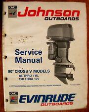 Factory Service Manual - 91 Johnson  Evinrude 85-175hp 90-degree Cross V Models