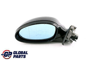 BMW 3 Series 2 E90 M Sport High Gloss Heated Left N/S Wing Mirror Carbon Black