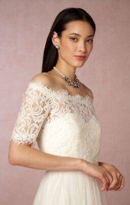 Nwt Tadashi Shoji Virginia Lace Off The Shoulder Wedding Dress Topper Size Xs Ebay