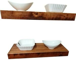 Canadian Handmade Thick Solid Wood Kitchen Wall Mounting Floating Shelves - FREE SHIPPING Canada Preview