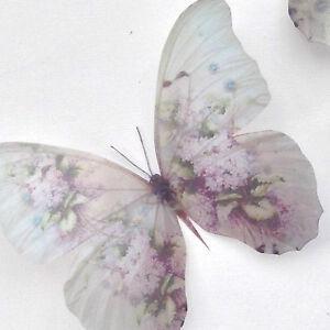 Victorian-Papillons-3-Lilas-Wild-Rose-BlackBerry-Papillon-3D-fait-main-cadeau
