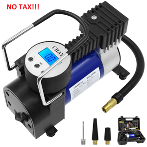 Portable Air Compressor Pump Digital Auto Tire Inflator Air Pump w Toolbox NEW