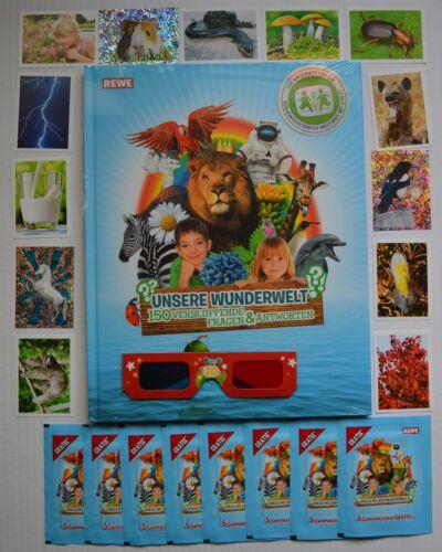 todos 180 sticker completamente Nuestros Rewe milagro mundo nuevo barra Album