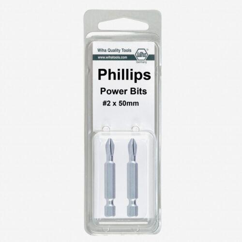 2 Pack Wiha 74158 #0 x 50mm Phillips Power Bit