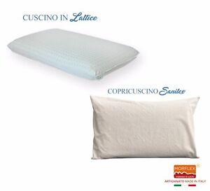 Come Si Lava Un Cuscino In Lattice.Cuscino Guanciale In Lattice H10 12 Copricuscino Sanitex