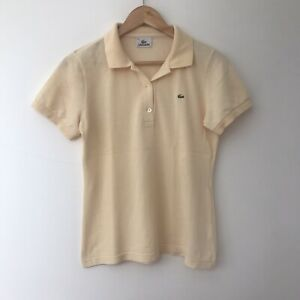 Lacoste-Womens-Yellow-Polo-Shirt-Size-42-Small-Medium