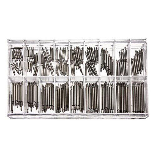 360 Stücke Uhrenarmband-Splinte Reparaturstifte Pins für metallene 8-25mm