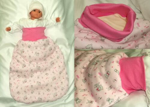 Baby Strampelsack Babyschlafsack Pucksack Schlupfsack Handarbeit Baumwolle