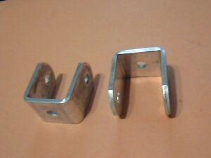 "Awning U Brackets, 1"" Aluminum, 2 Pair, Bahama Shutters, 1"" or 7/8"" poles"