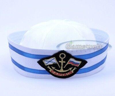 Captain Sailor Hat Popeye Gob Gilligan YACHT Navy Stag Hen