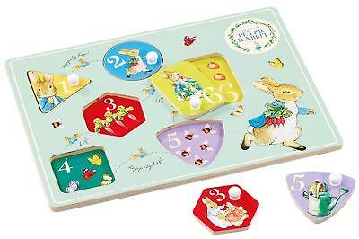 Rainbow Designs Peter Coniglio Di Legno Peg Puzzle Toy Bambino Shape Sorter Bn-mostra Il Titolo Originale Una Custodia Di Plastica è Compartimentata Per Lo Stoccaggio Sicuro