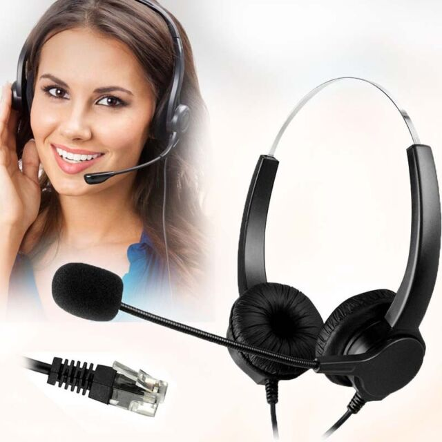 Cell Phone Headset 3 5mm Wired Operator Style Flex Boom Microphone Call Center For Sale Online Ebay