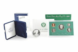 Lot-1996-PROOF-American-Silver-Eagle-1-Oz-amp-US-Mint-Proof-Set-Coin-Collection