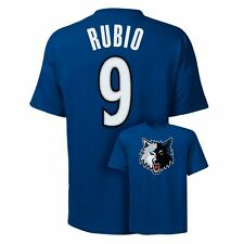 ($28) Minnesota Timberwolves RICKY RUBIO nba Jersey T-Shirt Tee ADULT MEN'S (L)