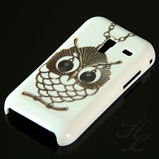 Samsung Galaxy Ace Plus S7500 Hard Handy Case Hülle Schale Etui Eule Kette Owl