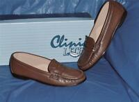 Clinic Lites, Womens Vintage Penny Loafer, Rich Dark Tan Leather, 6 M (b)