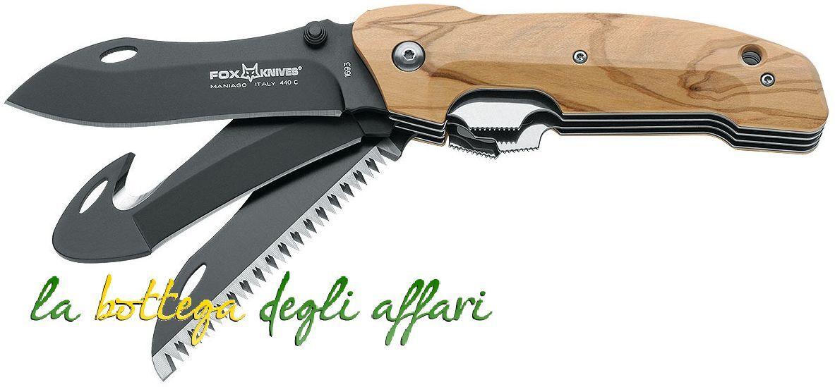 Coltello militare softair caccia FKMD Fox Multi Hunter & Hunting Knives FX1693