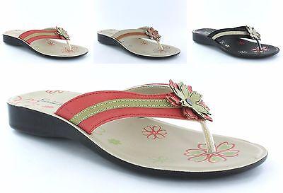 Mujeres Damas Verano Zapatillas Mocasines Sandalias De Playa 3 Colores Tamaños Reino Unido