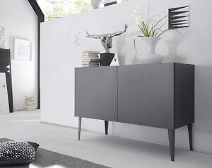 Credenza Moderna Di Design : Credenza moderna madia di design ante grigio opaco con