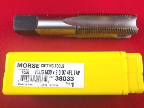 M30 X 2.0 30MM PLUG High Speed Steel hand tap USA Made D7 Morse 38033