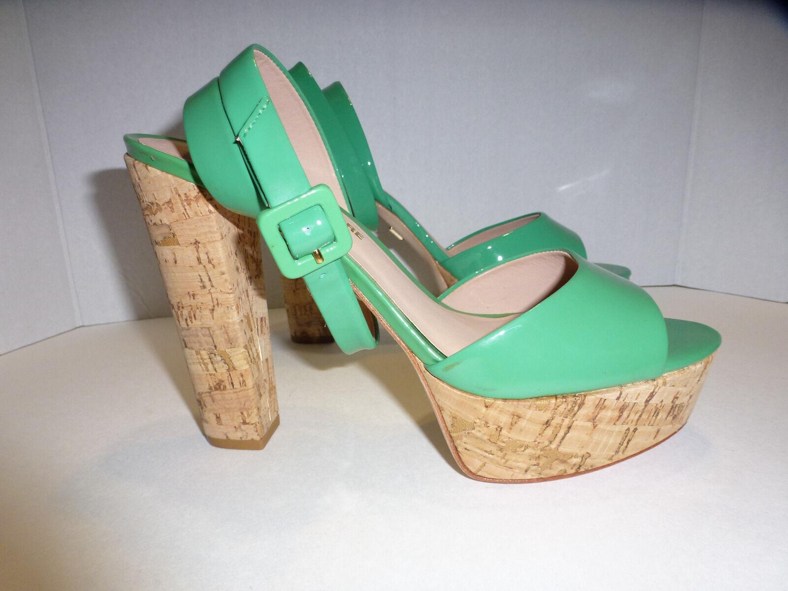 economico online Pour La Victoire Donna  heel Dimensione 8, 8, 8, Vero Cuoio, Cork Platform verde  vendendo bene in tutto il mondo