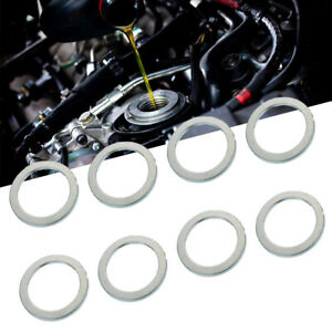 10x-Silver-Fit-For-Toyota-Lexus-90430-18008-Drain-Plug-Gasket-Washer-Kit-Set