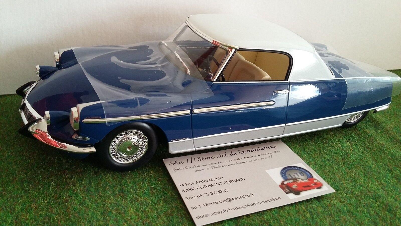 CITROËN DS 21 CHAPRON LE DANDY 1964 bleu 1 18 METAL-18 TACOT NOREV 18001A voitur