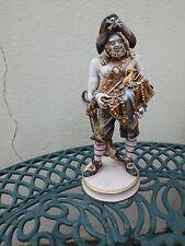 RARO PERSEO ITALIANO PORCELLANA Statuetta Figura Pirata con Treasure difficile da trovare RARA